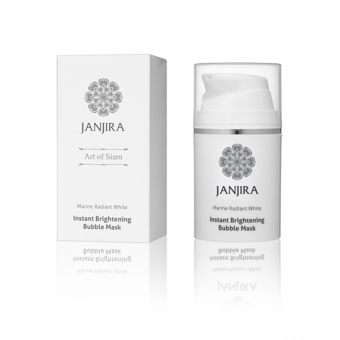 Janjira Marine Radiant White Brightening Bubble Mask, £24
