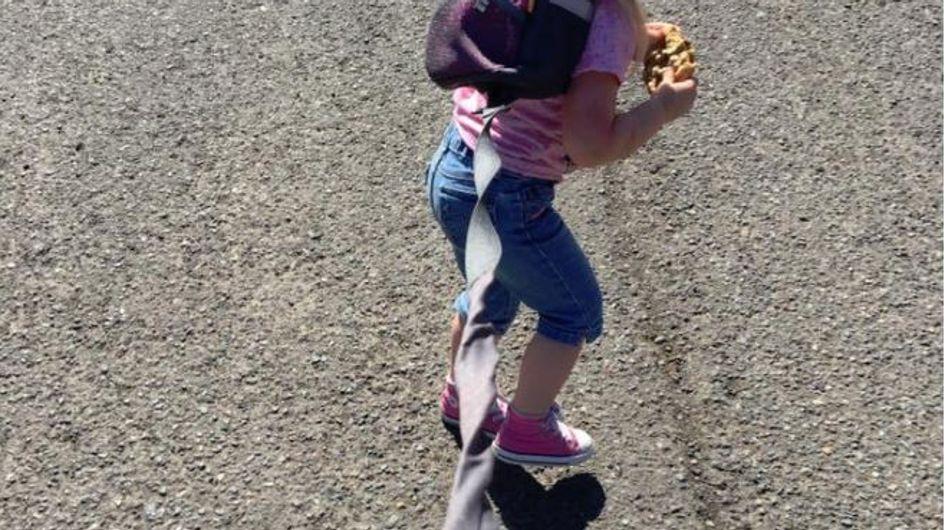 """Ein Vater packt aus: """"Deshalb trägt meine Tochter draußen eine Leine!"""""""