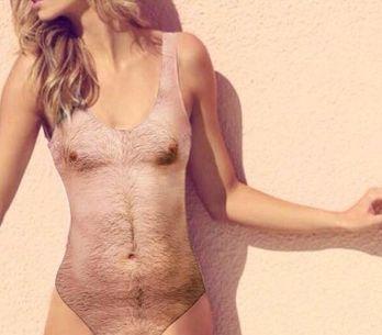 OMG! El bañador que imita el cuerpo de un hombre con pelo en pecho es una realid