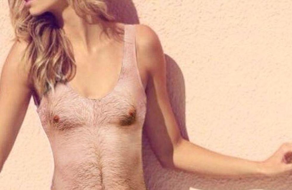 OMG! El bañador que imita el cuerpo de un hombre con pelo en pecho es una realidad