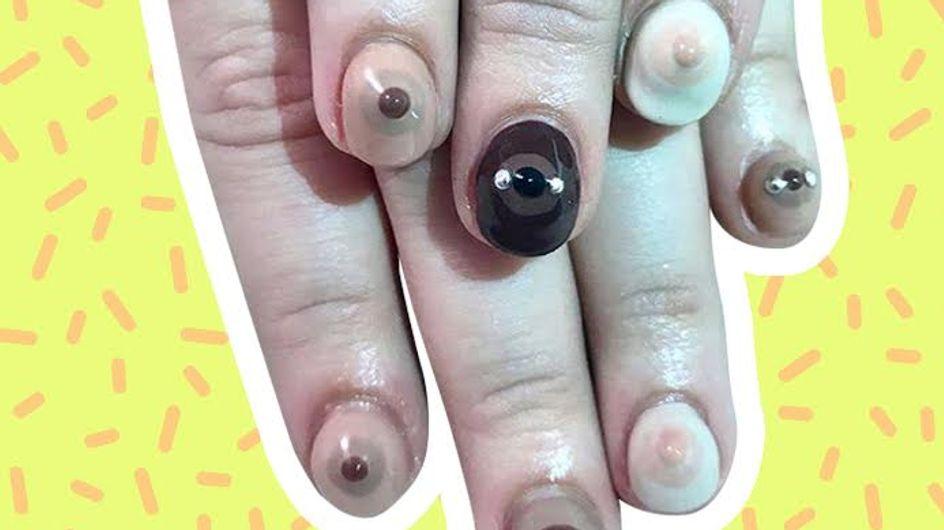 WTF ! La Boobs Manucure, dernière tendance du moment ? (photos)