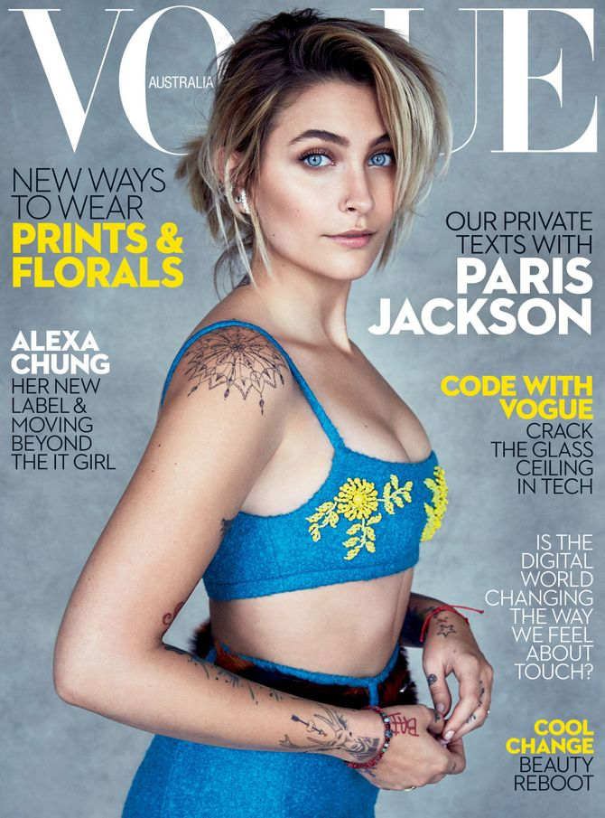 Paris Jackson pour Vogue Australia