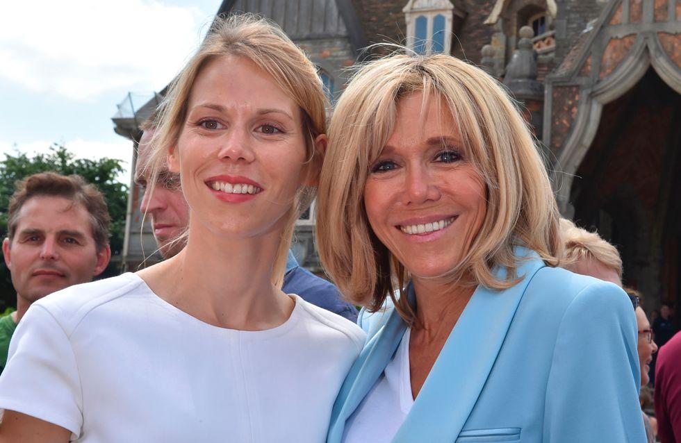 Brigitte Macron, baskets et mini-jupe en jean pour son week-end au Touquet (Photos)