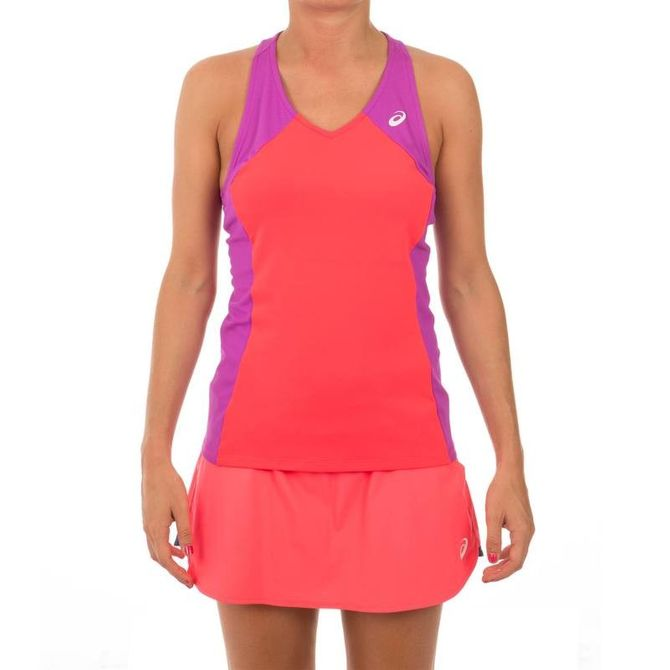 La tenue de badminton parfaite : épaules dégagées, matières légères, jupette fluide, Asics
