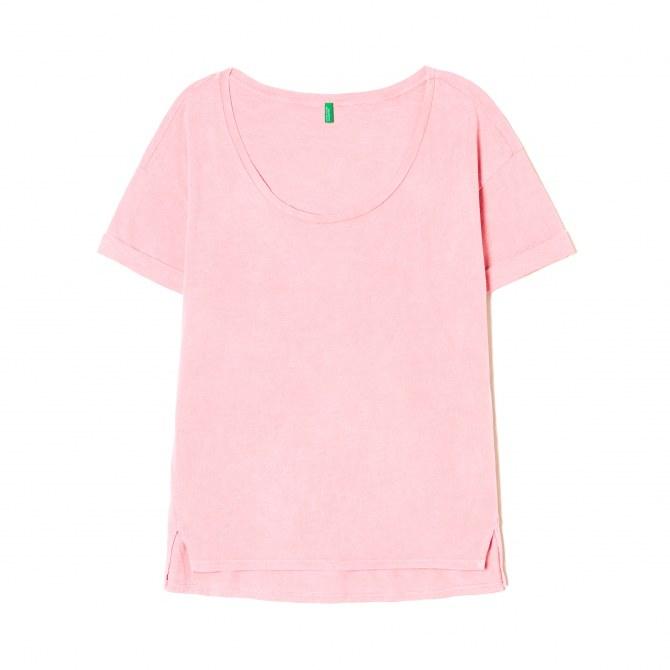 T-shirt à teinture minérale, Benetton, 29,95 €