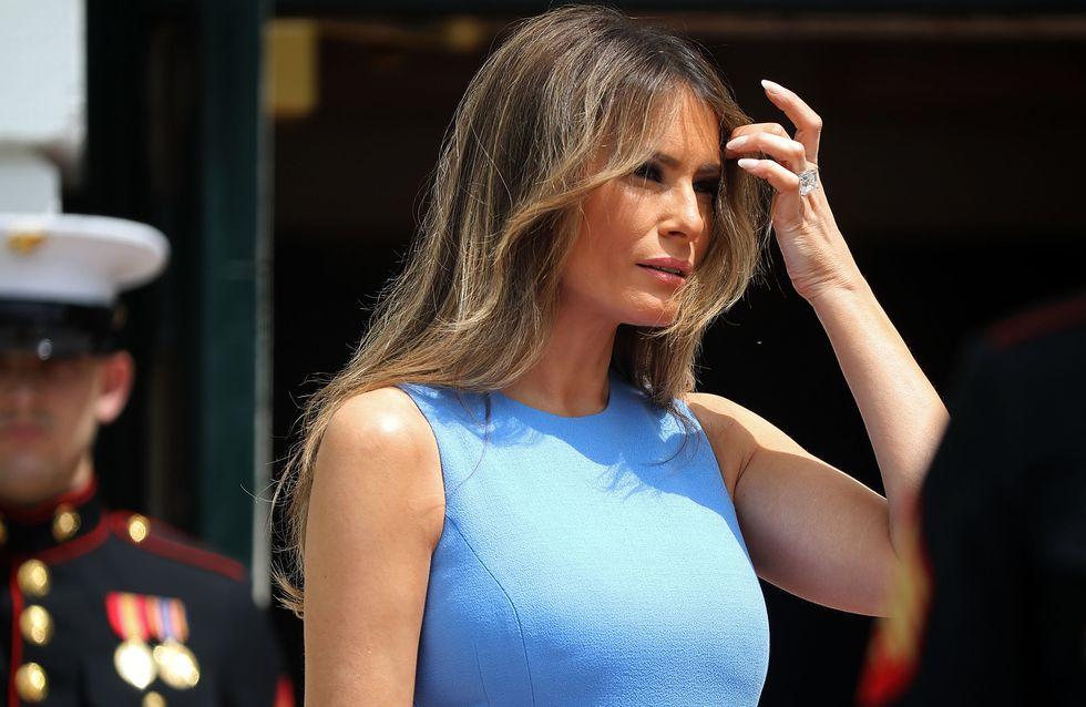 Melania Trump, une First Lady très sexy en robe moulante et dentelle noire (Photos)