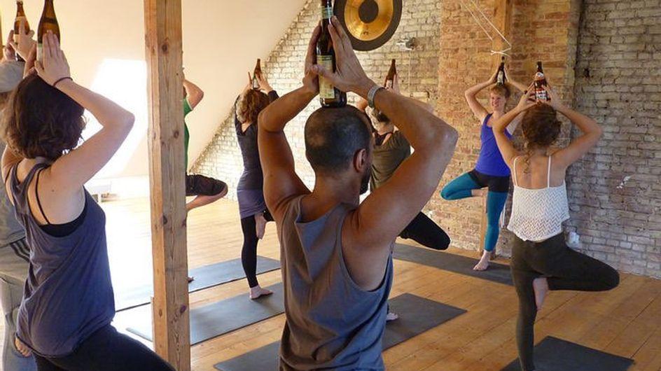 Beer Yoga: ¿conoces las clases de yoga con cerveza?