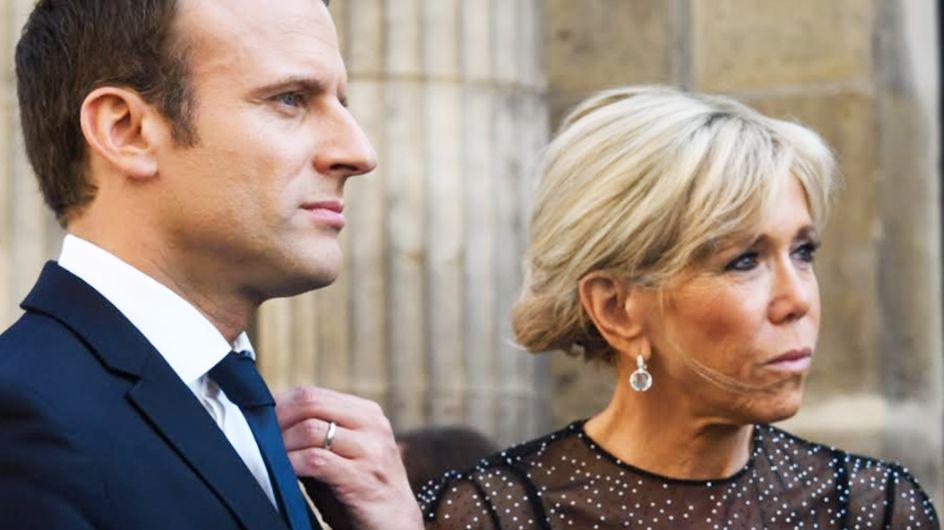 Brigitte Macron affronte la canicule en petite robe noire transparente (Photos)
