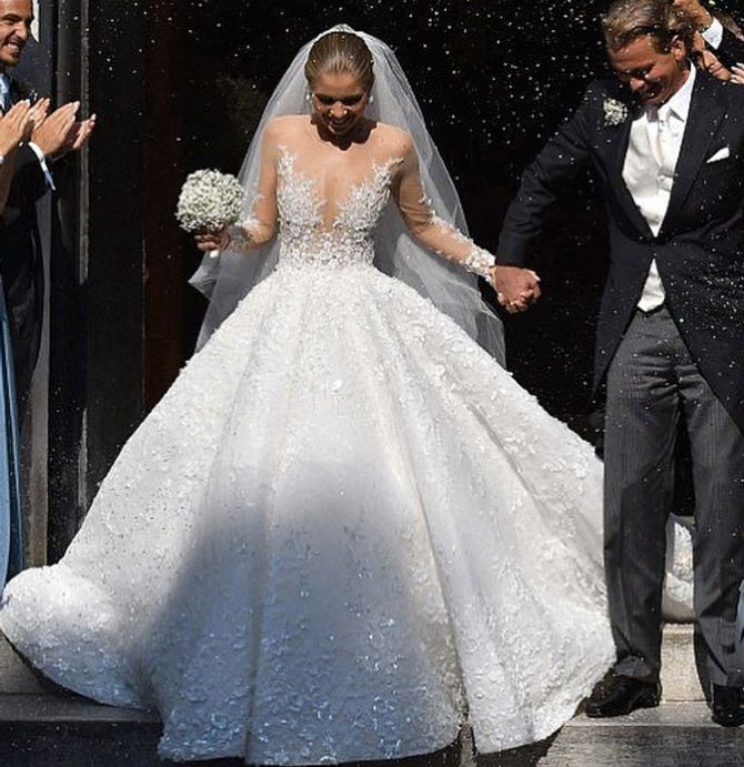 L'incroyable robe de mariée de Victoria Swarovski !
