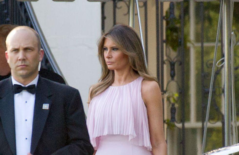 Melania Trump, romantique et toujours plus élégante en rose pastel (Photos)
