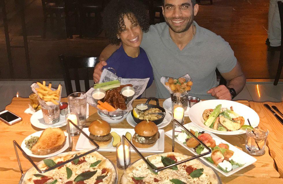 Un atracón al día: la supuesta dieta que sigue una pareja para estar en forma