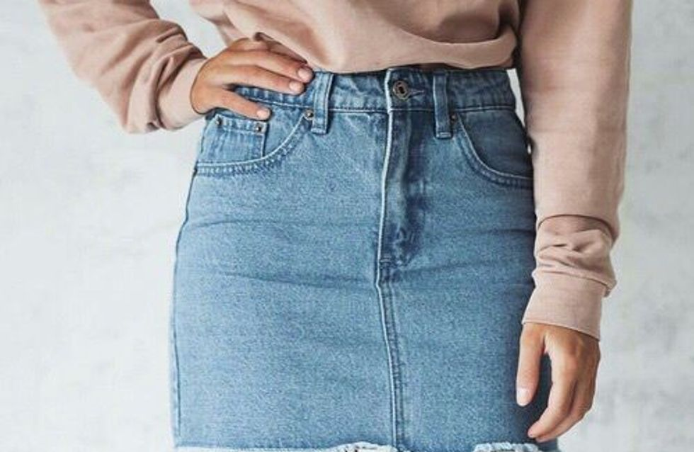 32 Ways To Style A Denim Skirt, As Told By Pinterest