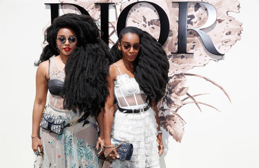 Avec leur chevelure afro, les jumelles Quann enflamment le défilé Dior