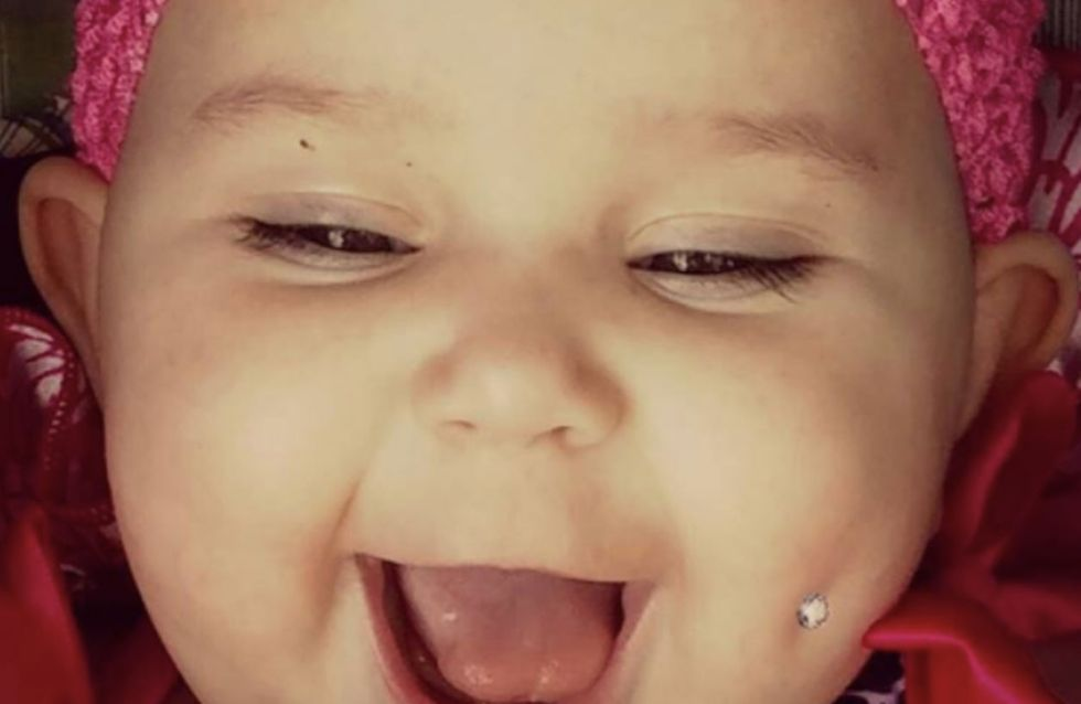 This Mum Is Causing Outrage For 'Piercing' Her Baby Daughter's Adorable Dimple