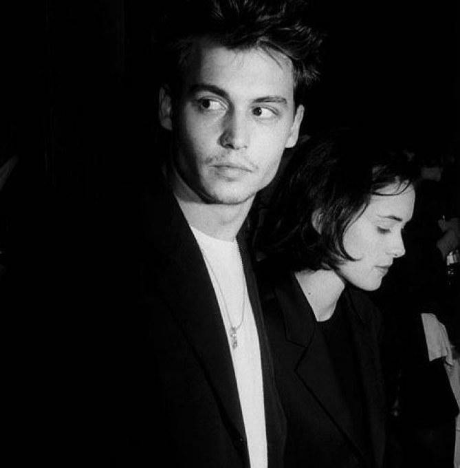 Johnny Depp and Winona Ryder, September 24, 1990