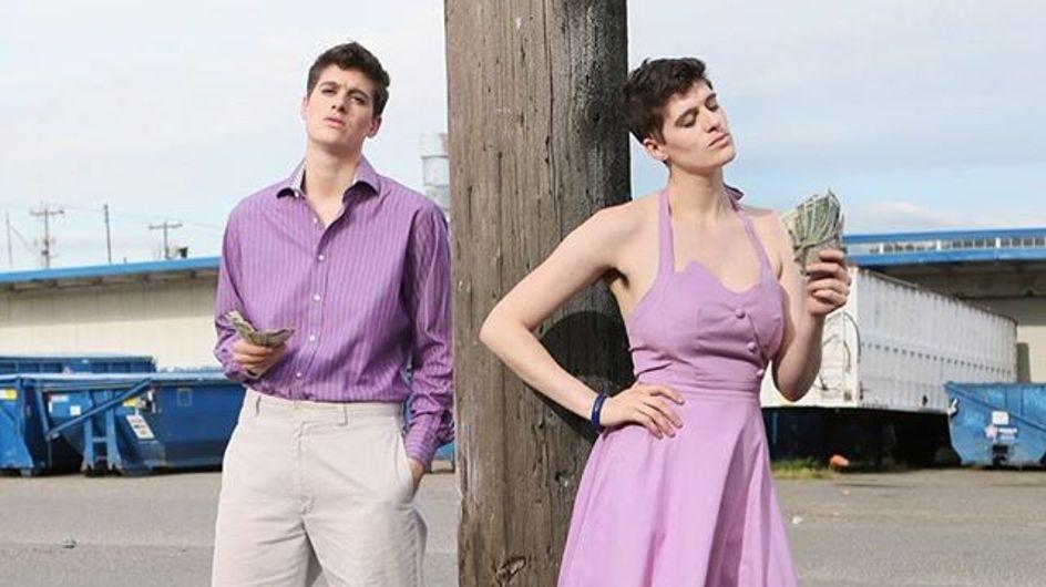 Rain Dove, le mannequin à la fois homme et femme qui bouleverse les codes de la mode (Photos)