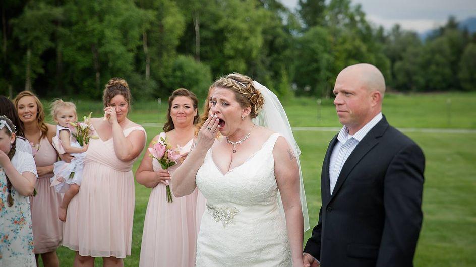 Überraschung am Hochzeitstag: Dieser Gast rührt alle zu Tränen