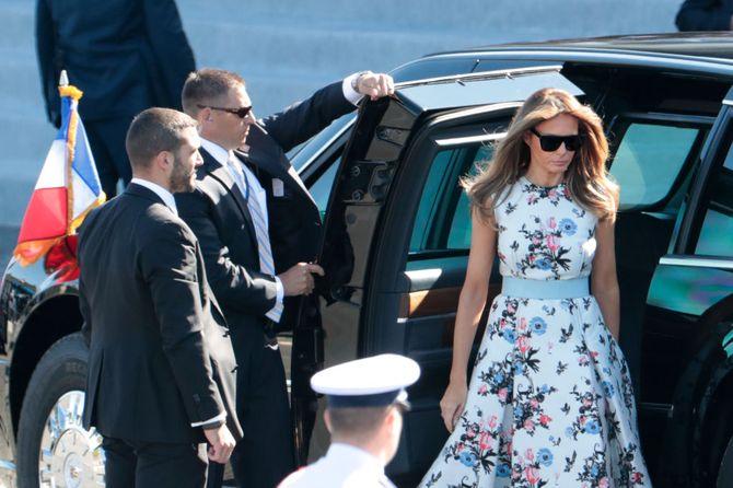 Brigitte Macron et Melania Trump rayonnantes et élégantes pour le défilé du 14 juillet