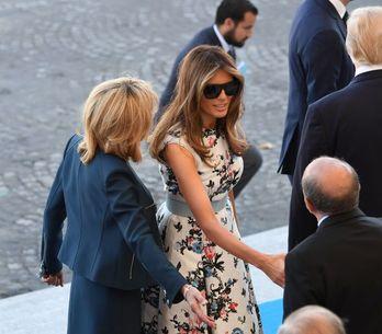 Brigitte Macron et Melania Trump rayonnantes et élégantes pour le défilé du 14 j
