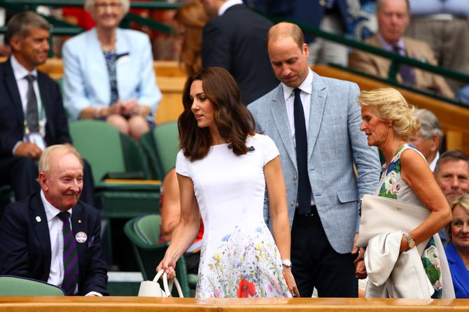 Kate Middleton et le prince William à Wimbledon