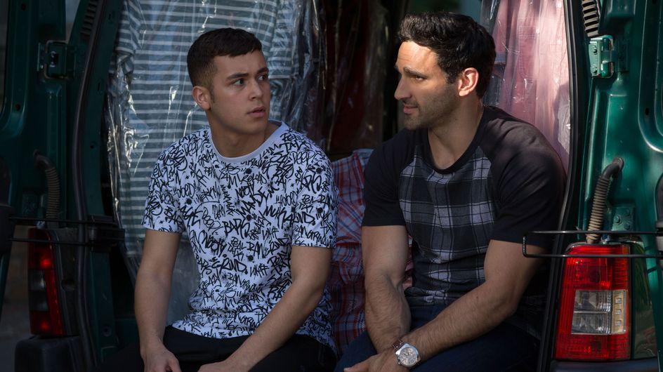Eastenders 28/07 - Kush And Shakil Discuss Carmel's Divorce