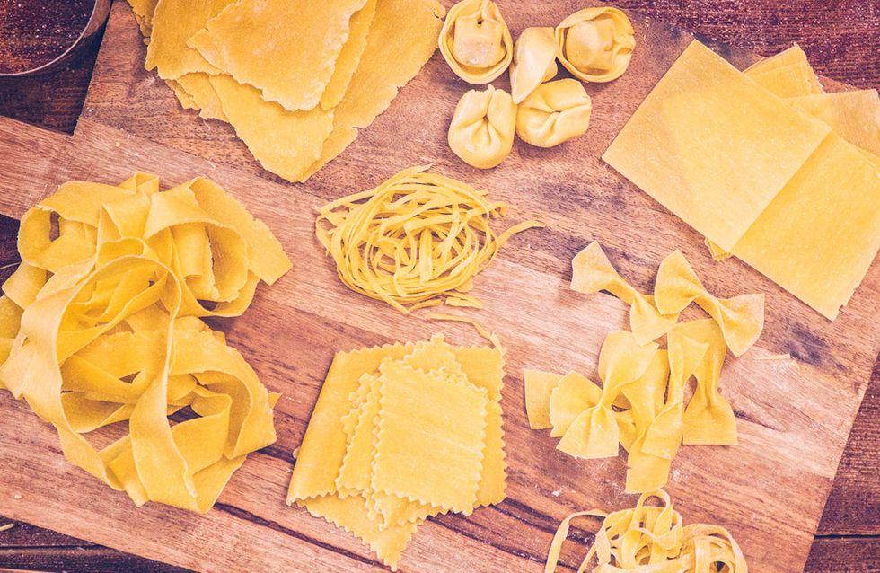 Espaguete, rigatoni... identifique cada tipo de massa