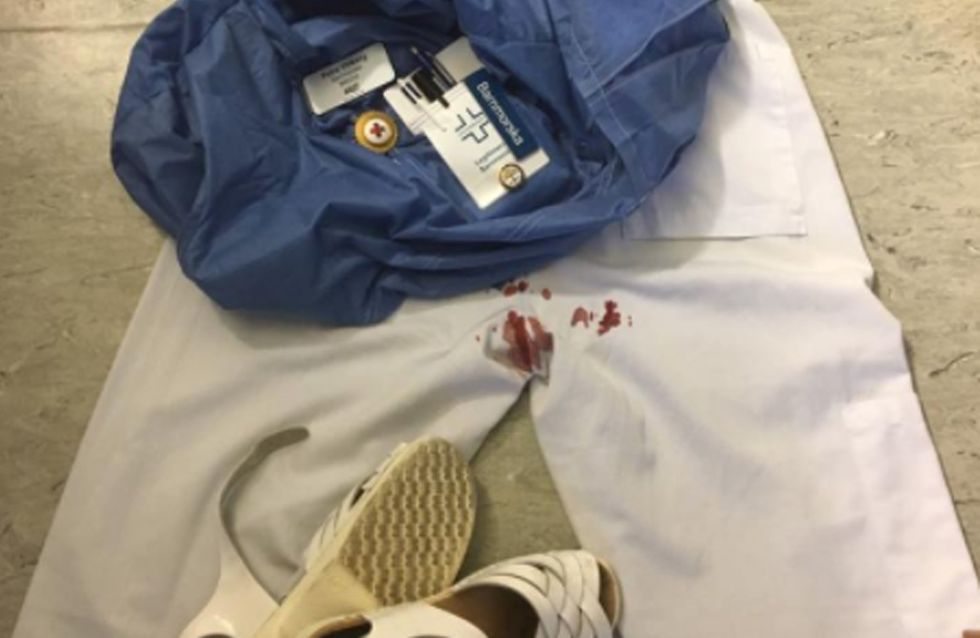 Midwife Shares Photo Of Period Blood-stained Uniform After She Was Too Busy To Change