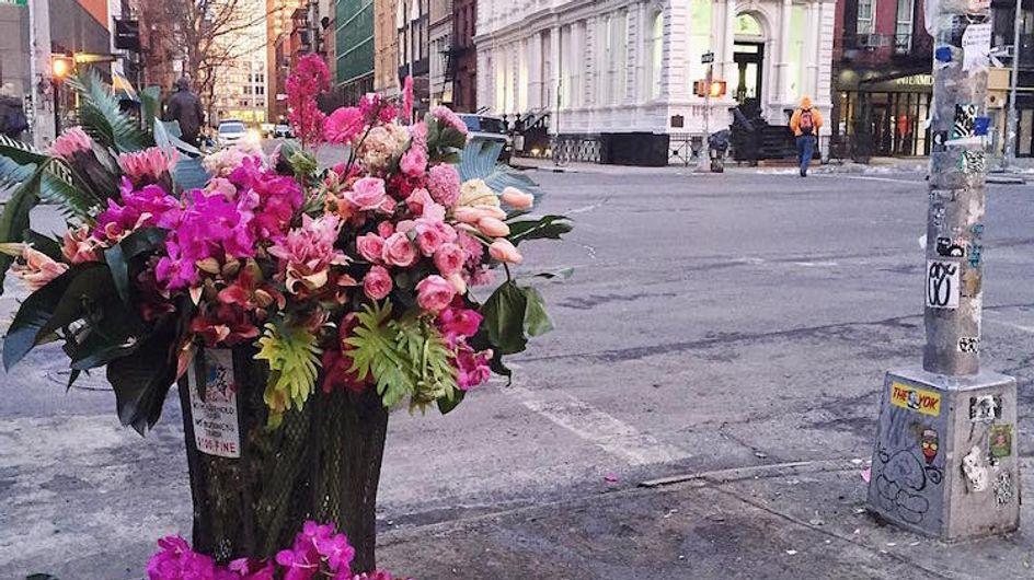 Em Nova York, cestos de lixo viraram vasos de flores