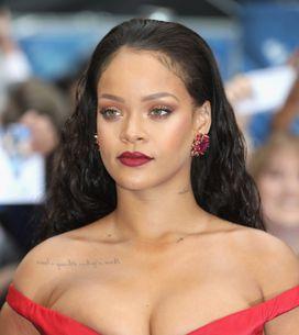 Sublime, Rihanna dévoile sa poitrine dans une longue robe rouge (Photos)