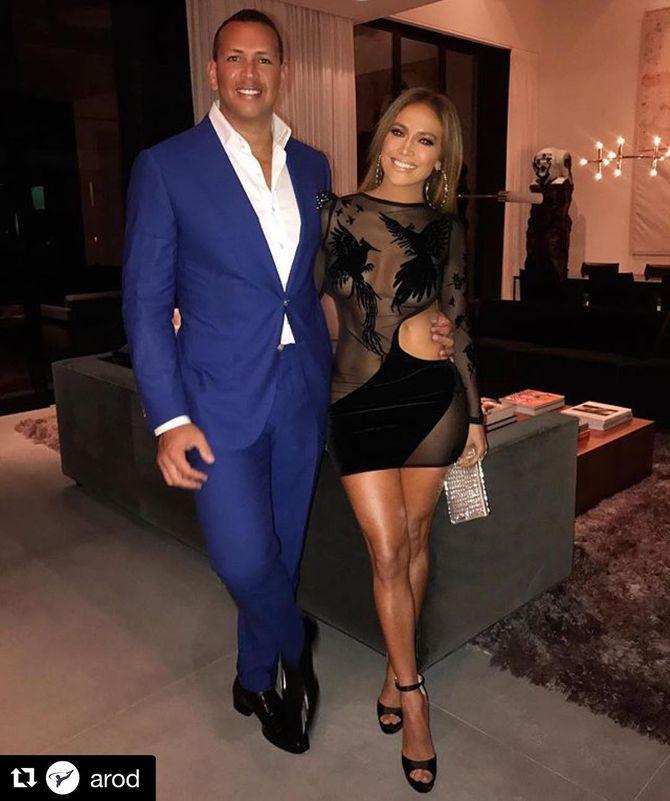 Jennifer Lopez et son compagnon, Alex Rodriguez