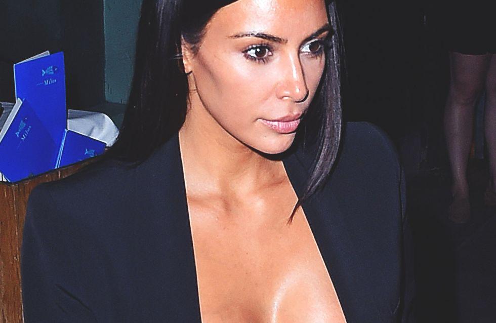 Céline Dion, Kim Kardashian, Charlize Theron... Elles troquent leurs t-shirts pour un soutien-gorge (Photos)