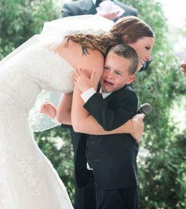 Das Versprechen dieser Braut an ihren Stiefsohn rührt alle zu Tränen