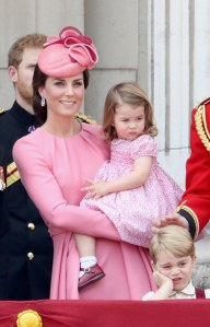 Kate Middleton et la Princesse Charlotte.