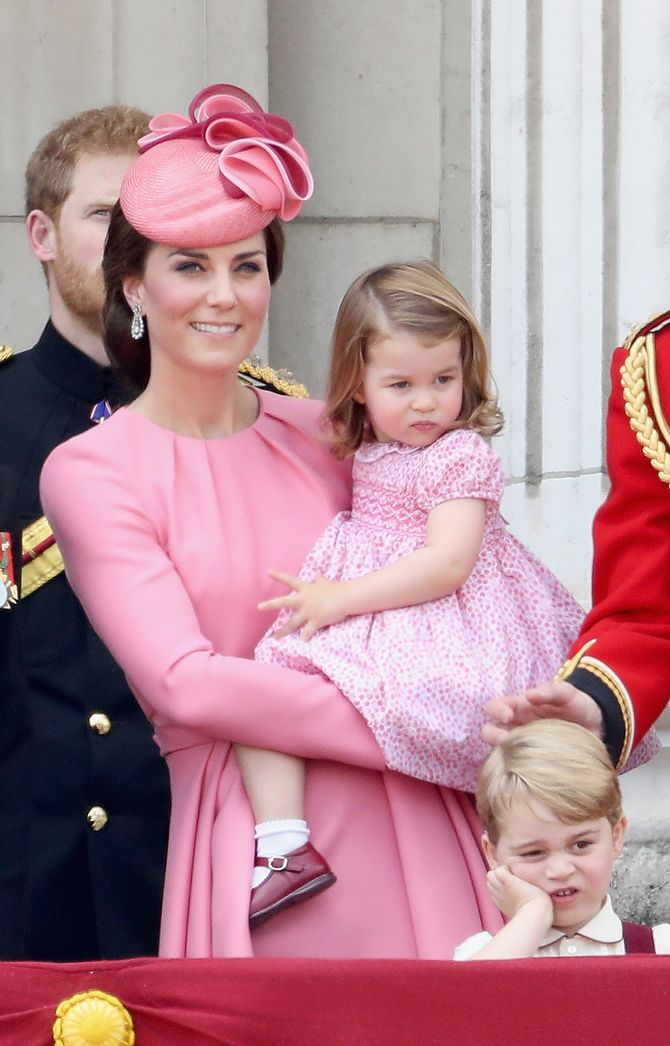 Kate Middleton et la Princesse Charlotte.