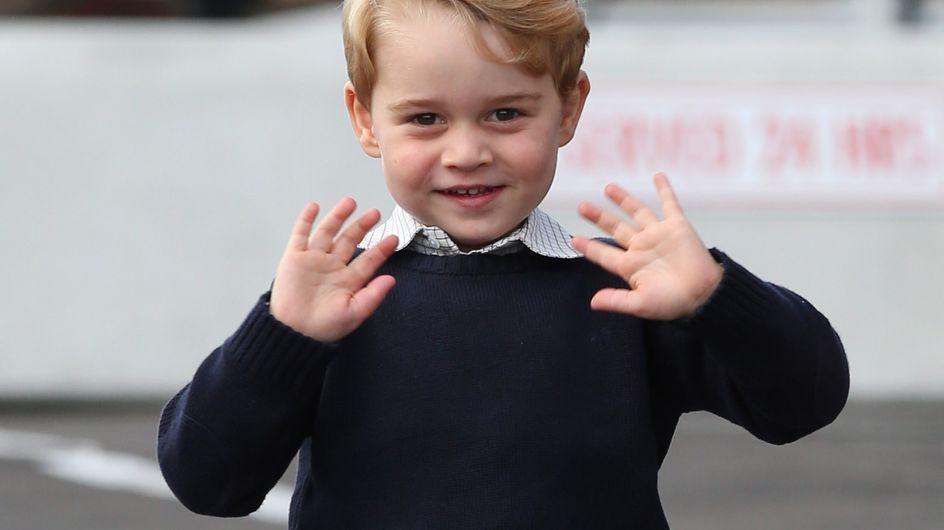 On sait enfin pourquoi le prince George ne porte que des shorts (Photos)