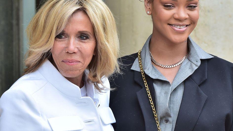 Duelo de estilos: el encuentro entre Rihanna y Brigitte Macron