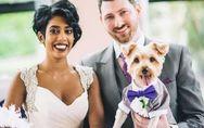 Dieses Brautpaar hat auf seiner Hochzeit einen ganz besonderen Ringträger ?
