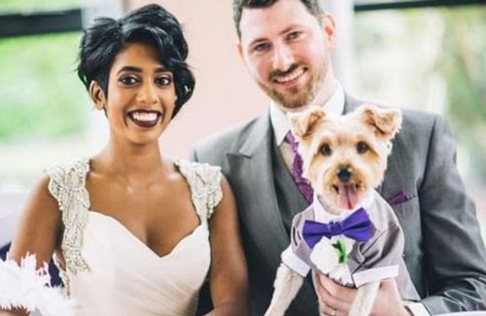Dieses Brautpaar hat auf seiner Hochzeit einen ganz besonderen Ringträger ♥