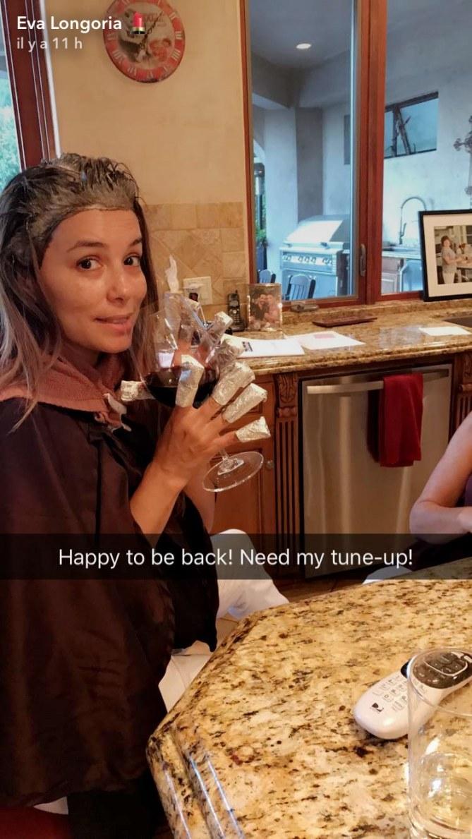 Eva Longoria au naturel sur Snapchat