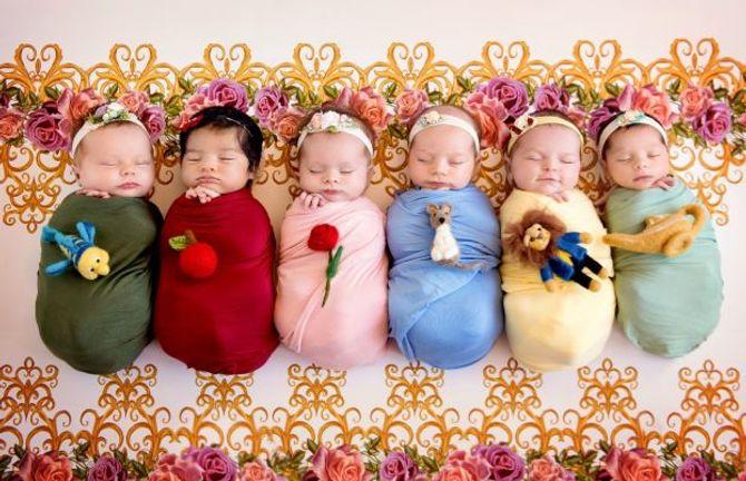Bébés déguisés en princesses Disney