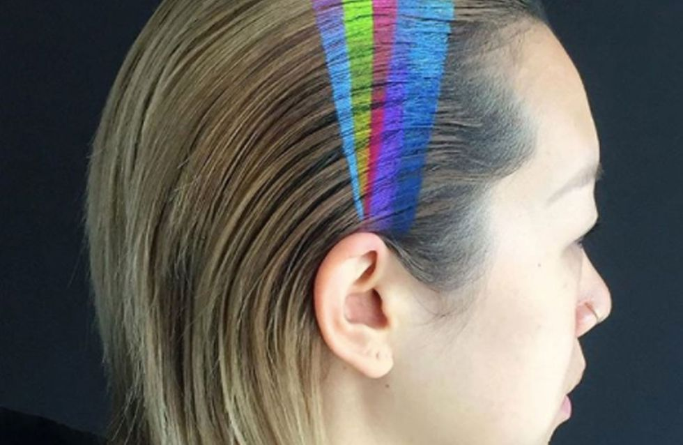 Rainbow Headband Hair Is Here To Up Your Festival Beauty Game