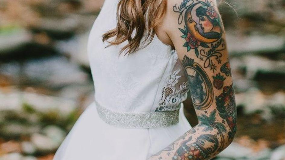24 vestidos de novia con bolsillos para looks más informales