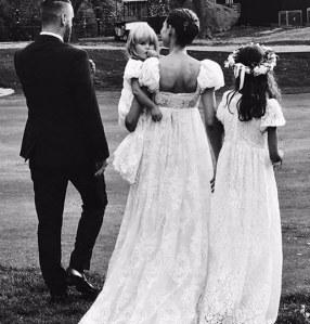 Bianca Balti al suo matrimonio
