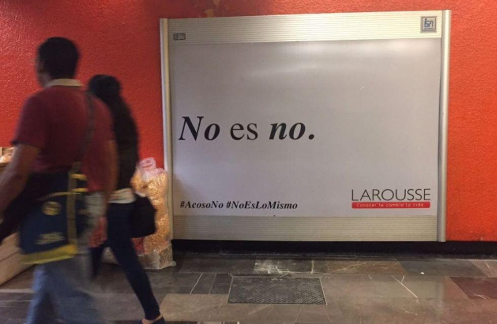 Esta campaña contra el acoso en el metro de México es brillante