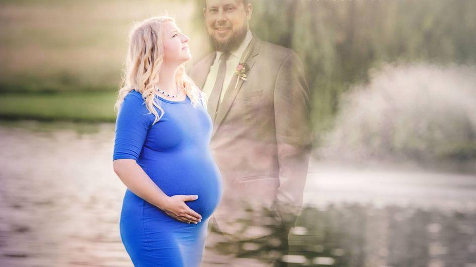 Im 6. Monat verliert sie ihren Ehemann - doch dank dieser Bilder ist er bei ihr
