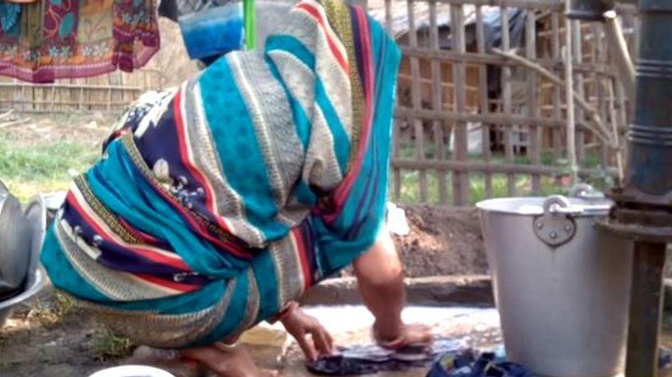 Voilà ce que certaines Indiennes doivent utiliser comme protection hygiénique...