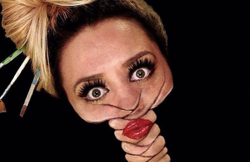 This Make-Up Artist Creates Trippy AF Face And Body Art Illusions And We're Shook