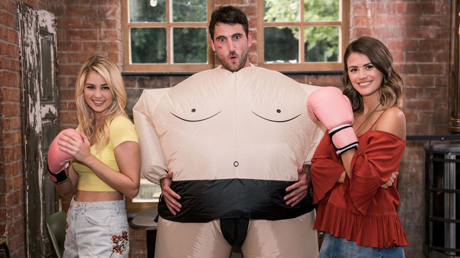 Hollyoaks 01/09 - Damon Makes It Up To Holly - With A Fat Suit And Boxing Gloves!
