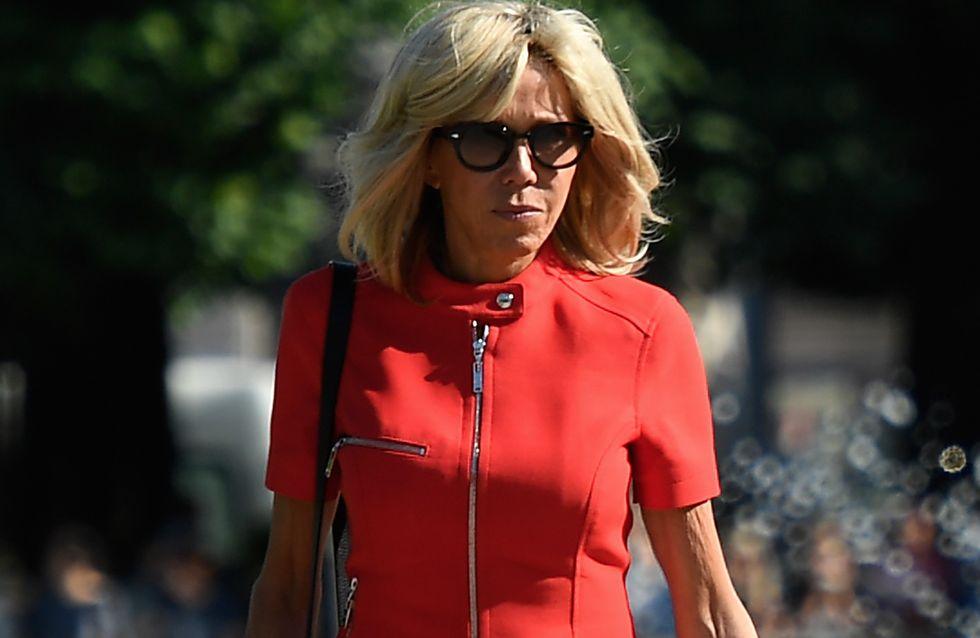 Brigitte Macron fait sensation dans une mini-robe rouge (Photos)