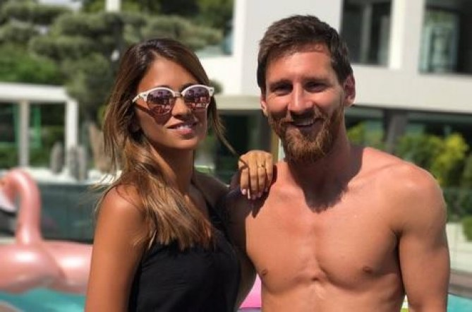 Leo Messi y Antonella